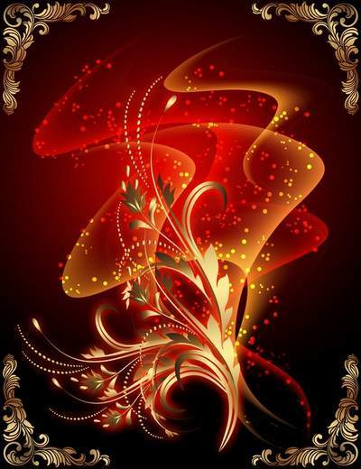 Multilayer backgrounds - Fire dance like a flower