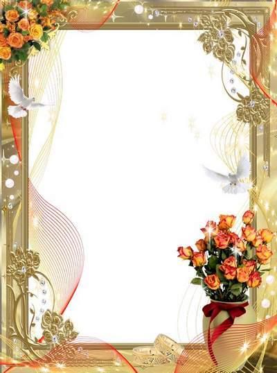 Frame - Gold fragrant tea roses