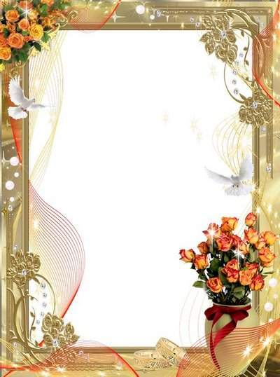 Frame - Gold fragrant tea roses