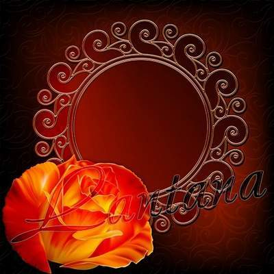 PSD source - Frames with a rose