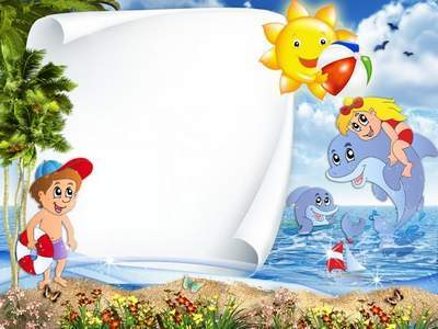 Children's PSD source - Summer vacation by the sea