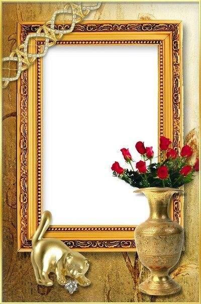 Рамка для фото - Золотая