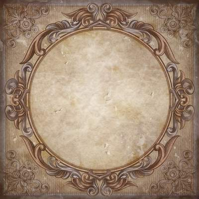 Sources frame in vintage style on crumpled paper. Transparent PNG ...