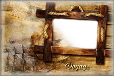 Винтажная рамка для фото - Морское путешествие