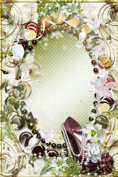 The wedding frame - You is fine and glamour, as flowers in the spring morning