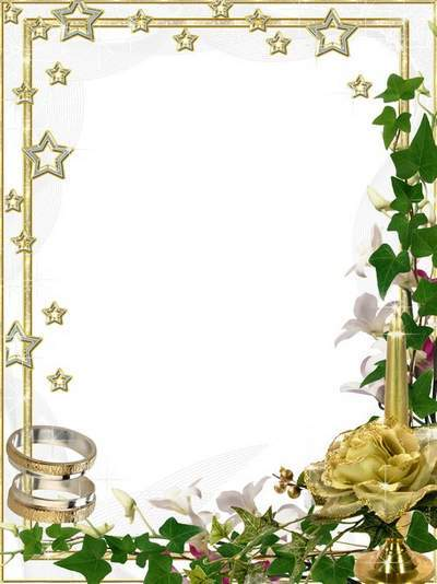Wedding frame for photoshop Candle