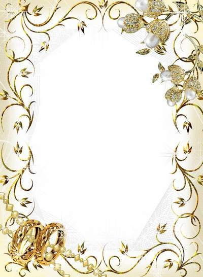 Wedding frame for bride