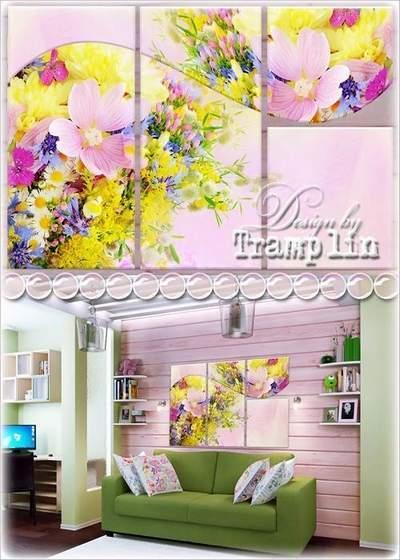 Triptych – Wild flowers