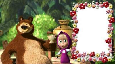 Children's frame Masha and the Bear - Sweet malinka