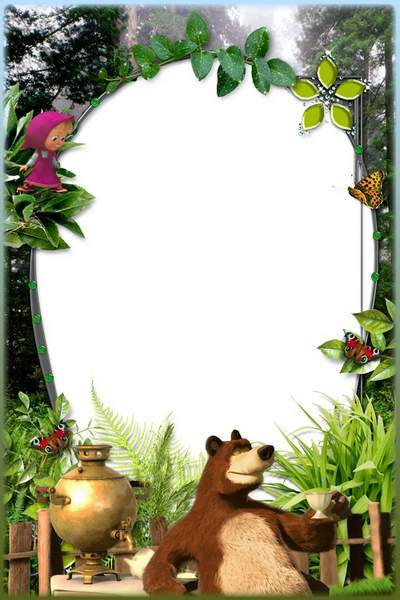 Kid's Photoframe - Masha and the Bear at Tea