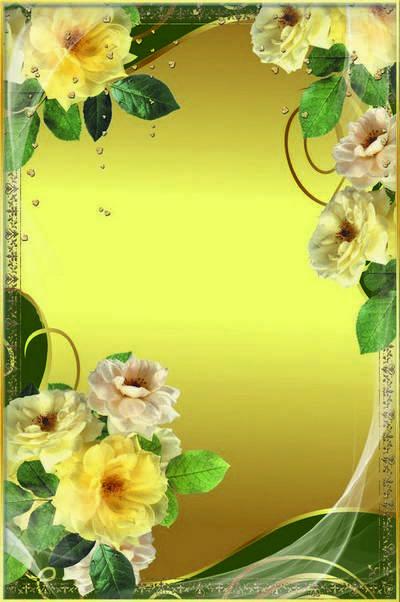 Рамка для фото - Жёлтые розы