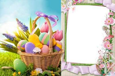 easter frame photoshop template psd file