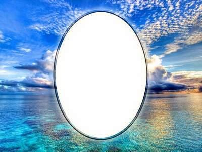 Photoshop Frame psd template - Sea sky
