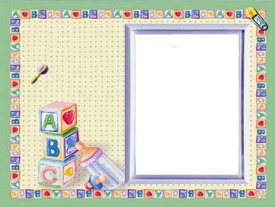 Collection of photo frames for babies for photoshop
