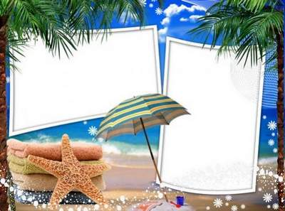 Collection of sea frames for Photoshop - An Unforgettable Summer
