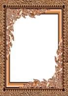 Gold frame cutouts for your creativity in Photoshop