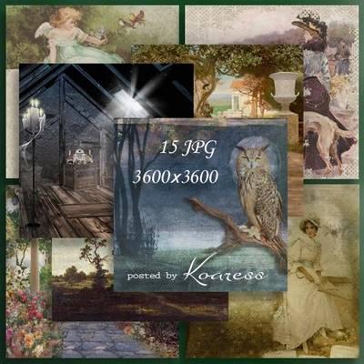Free set vintage backgrounds - 15 JPG, 3600x3600 px
