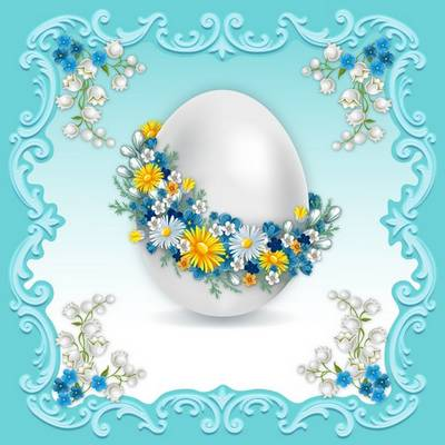 Free Easter Card - 2 layered PSD file Greeting Cards, 7677x7677 px