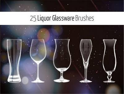 Photoshop Brushes Set - Liquor Glassware