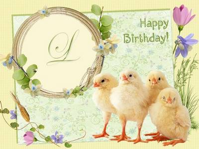 Photoframe – Happy Birthday, Chicken!