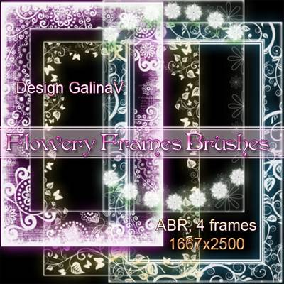 Flowery Frames Brushes for Photoshop