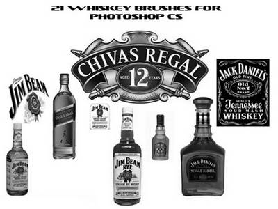 Whiskey brushes for photoshop