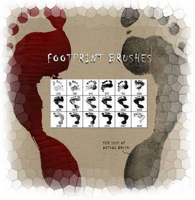 Footprints - Brushes for Photoshop