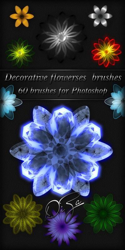 Decorative flowerses brushes