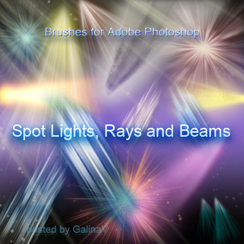 Brushes for Adobe Photoshop - Spot Lights, Rays and Beams