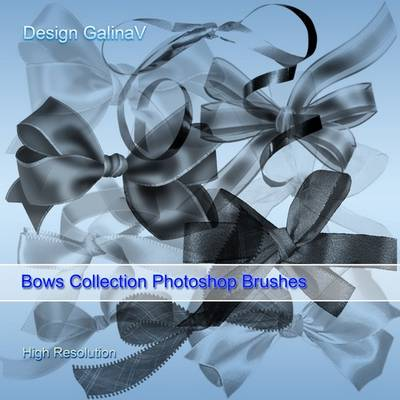 Bows PSD Collection + Photoshop Brushes