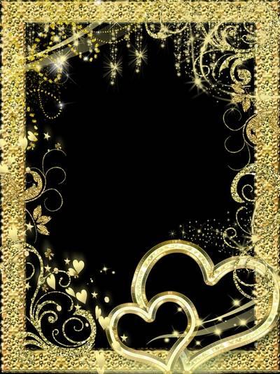 Рамка для фото –  Золотая