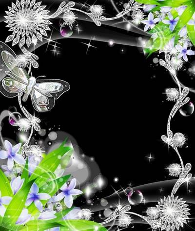 Рамка для фото –  Драгоценные бабочки