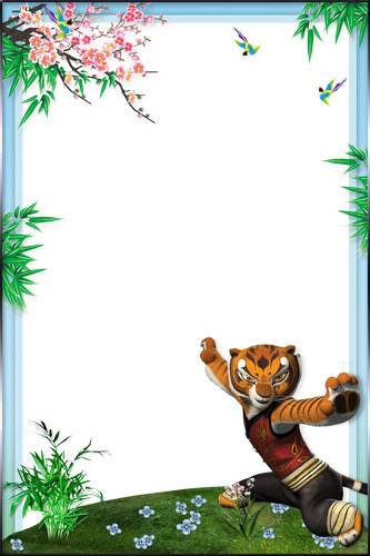 7 Kid's Photoframe - Kung Fu Panda
