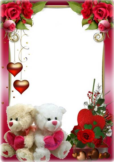 Romantic floral frame for two - Happy Valentine's Day