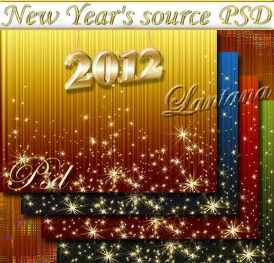 PSD source - Christmas tinsel 9