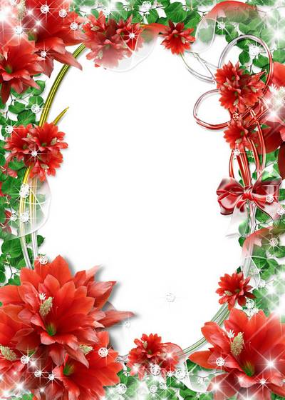 2 Frames for photo with flowerses - Gentile, sweet, fine scents