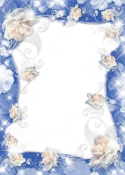 Frame for Photoshop - a Roses gentile colour