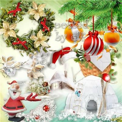 Clipart - Christmas toys