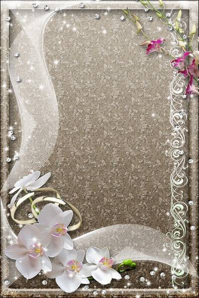 Wedding Photoframe - White Orchids