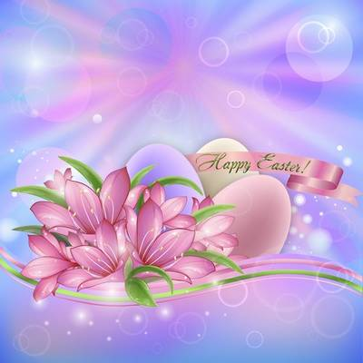 layered PSD file - Happy Easter Day