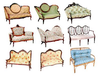 Clipart - sofas, couches, chairs
