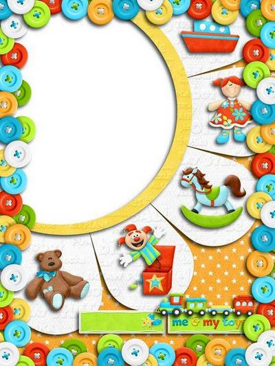 Children frame for Photoshop free download - The favorite toy