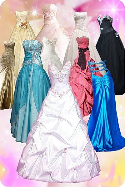 Clip art Wedding Dresses PSD