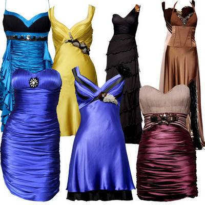 Clip art psd Templates of evening dresses - layered PSD file,  3500x3500 px| 300 dpi | 41 мb