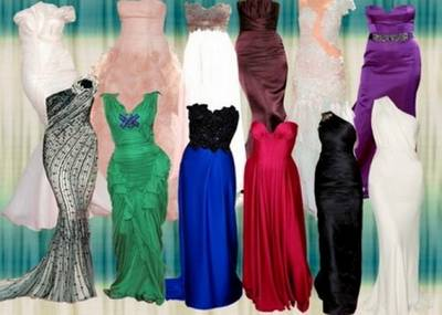 Evening dresses - PSD Template