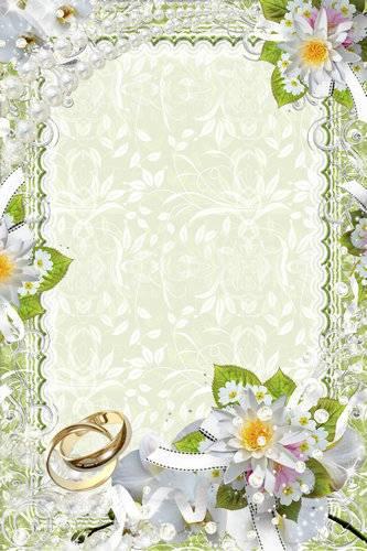 Set wedding framework for a photo - Our love