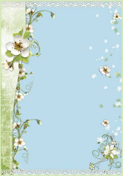 Romantic framework for a photo with spring flowers - If you live in the heart love