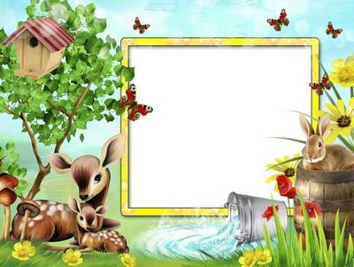 Children frame for Photoshop free download - Wonderful Time