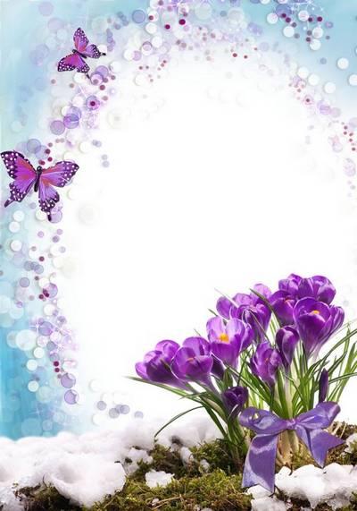 Frame - Spring awakening of nature