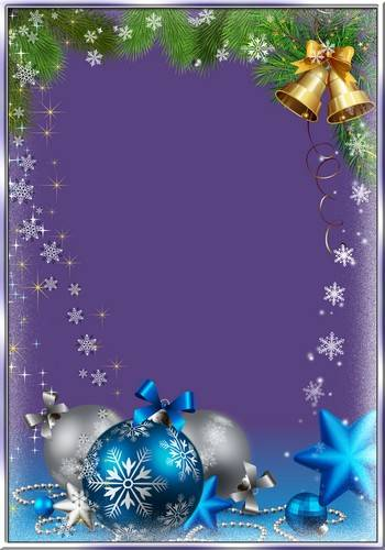 A set of photo frames - silver glitter snowflakes